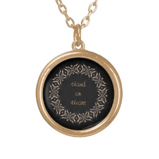 Hand on Heart Gold Plated Necklace