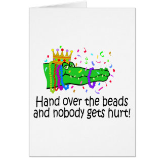 Hand Over The Beads Card