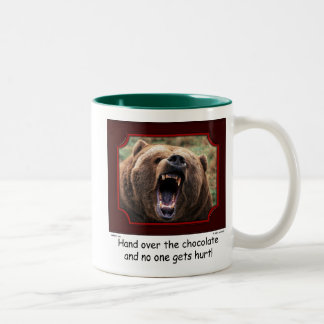 """Hand Over The Chocolate"" Bear Mug"