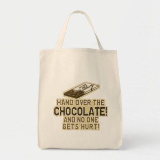 Hand Over The Chocolate Grocery Tote Bag