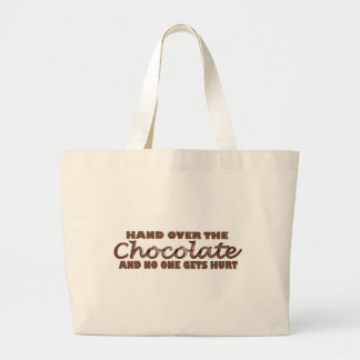 Hand Over The Chocolate Large Tote Bag