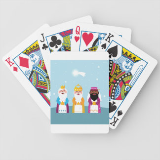 Hand painted 3 kings bicycle playing cards
