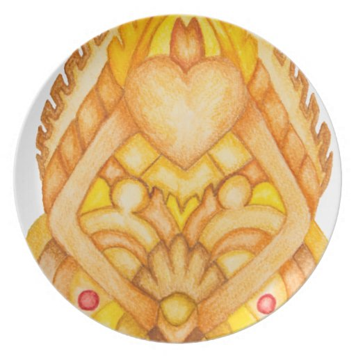 Hand painted art totem party plates