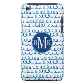 Hand Painted Blue Watercolor Wavy Pattern Case-Mate iPod Touch Case