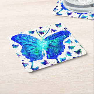 Hand Painted Butterfly Coasters