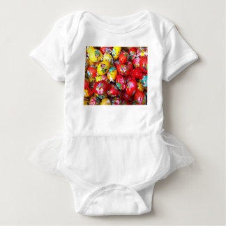 Hand-painted-Easter-eggs Baby Bodysuit