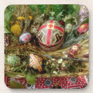 Hand Painted Easter Eggs Coaster