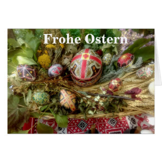 Hand Painted Easter Eggs Ostern Card