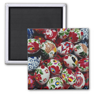 Hand-painted egg shells, Budapest, Hungary Square Magnet