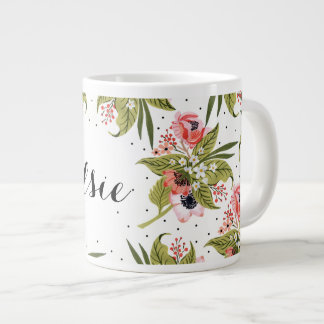 Hand Painted Floral Poppies Mug