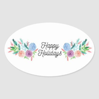 hand-painted flowers sticker