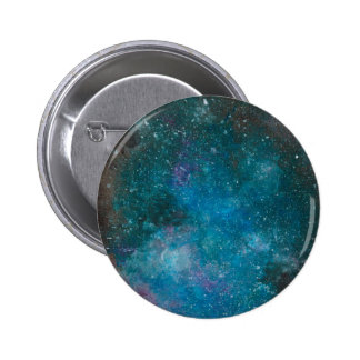 Hand Painted Galaxy Button