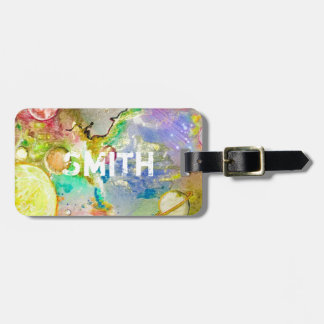 Hand Painted Galaxy Luggage Tag