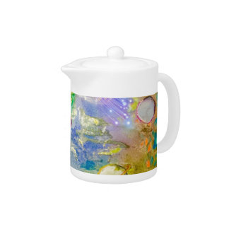 Hand Painted Galaxy Teapot