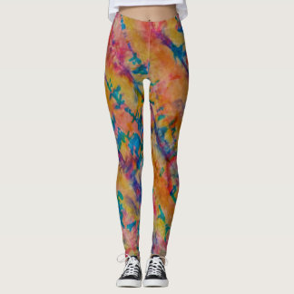 Hand Painted Hide Leggings