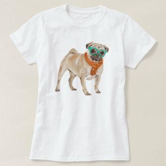 Hand-painted Hipster Frenchie Pug Bulldog T-Shirt