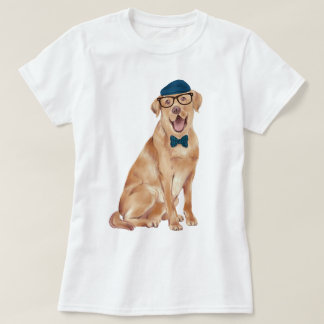 Hand-painted Hipster Labrador Dog T-Shirt