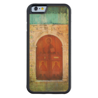Hand Painted Jesus Christ Icon Door Greek Orthodox Carved® Maple iPhone 6 Bumper
