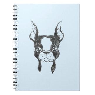 Hand Painted Ketchup Art Dog US Made Notebook