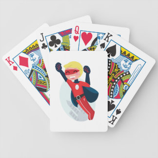 Hand painted little Hero flying Bicycle Playing Cards