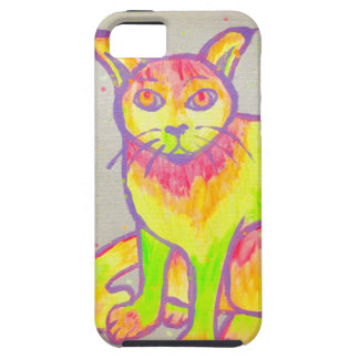 Hand Painted Neon Cat iPhone 5/5S/SE Case