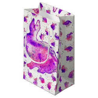 Hand Painted Purple Bunny Gift Bag