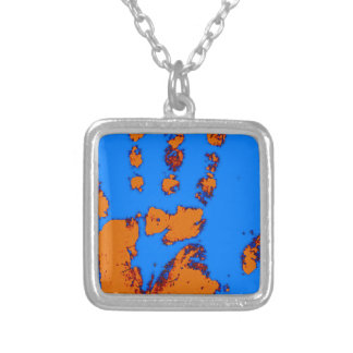 HAND PAINTED SQUARE PENDANT NECKLACE