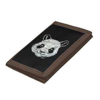 Hand Painted Toothpaste Panda Art Trifold Wallet