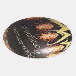Hand painted Ukrainian Easter egg Oval Sticker