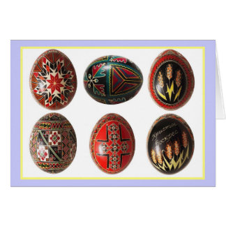 Hand Painted Ukrainian Easter Eggs Card