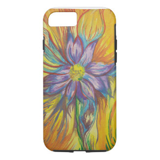 hand painted water colour flower design iPhone 7 case