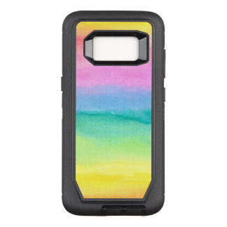 Hand painted watercolor textures OtterBox defender samsung galaxy s8 case