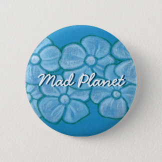Hand Painted White Flowers 6 Cm Round Badge