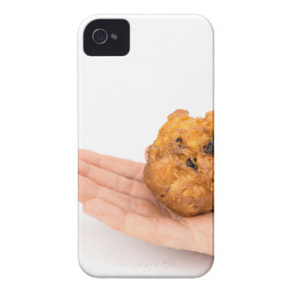 Hand palm showing fritter or oliebol iPhone 4 Case-Mate cases