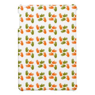 Hand Pattern green orange iPad Mini Case