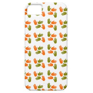 Hand Pattern green orange iPhone 5 Covers
