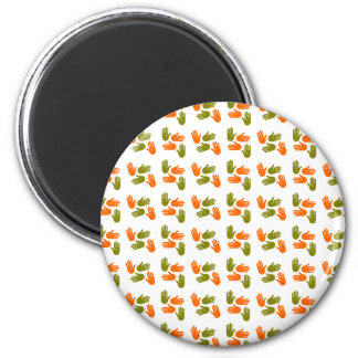 Hand Pattern green orange Magnet