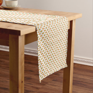 Hand Pattern green orange Short Table Runner