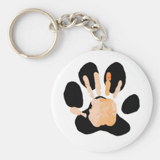 hand paw print key ring