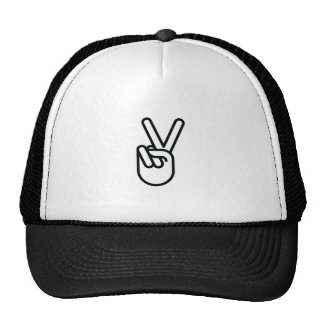 Hand Peace Sign Hat
