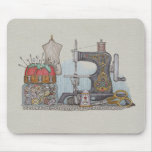 Hand Powered Sewing Machine Mouse Pad