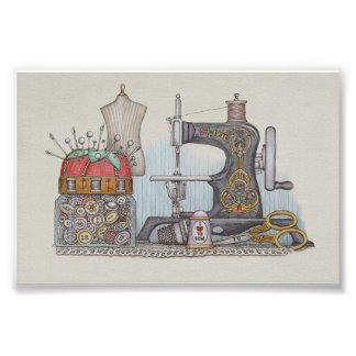 Hand Powered Sewing Machine Photo