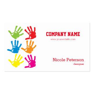 Hand prints - designer, painter pack of standard business cards