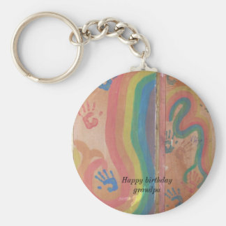 Hand Prints Key Ring