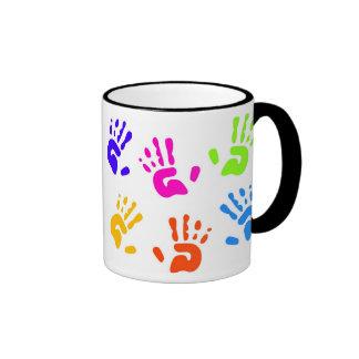 Hand Prints Coffee Mugs