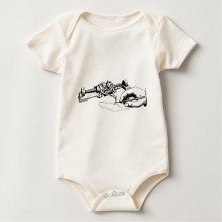 Hand Repairing Old Device Baby Bodysuit