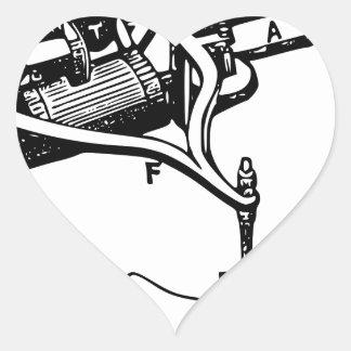 Hand Repairing Old Device Heart Sticker