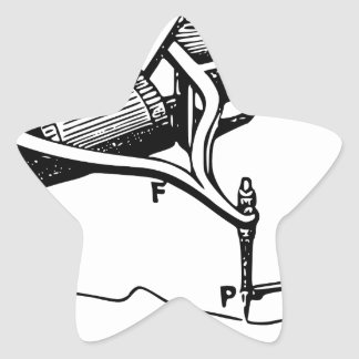 Hand Repairing Old Device Star Sticker