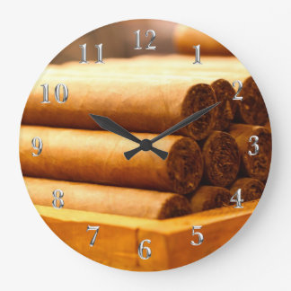Hand Rolled Cigars La Romana DR. Silver Numbers Large Clock