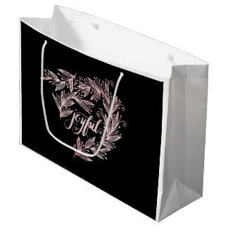 hand script joyful Holiday Gift Bag